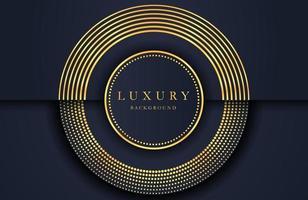 fundo elegante luxuoso com elemento dourado na superfície preta escura. layout de apresentação de negócios vetor