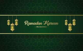 modelo de plano de fundo do banner ramadan kareem vetor