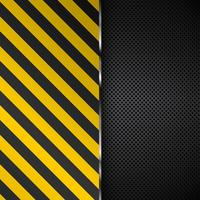 Fundo metálico com listras amarelas e pretas vetor