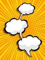 quadrinhos abstratos, pop art fundo em branco balão de fala vetor