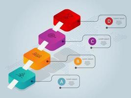 escada ou escada para modelo de elemento de infográficos de negócios de sucesso com ícones vetor