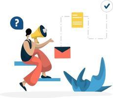 administração, gestão, planejamento, negócios online, marketing, conceito vetor