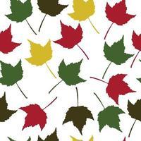 padrão de folhas de outono vetor