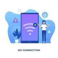 nenhum conceito de ilustração de conexão vetor