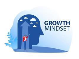 visão de negócios, procurando oportunidades na luneta vetor