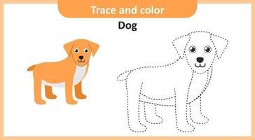 cão de rastreamento e cor vetor
