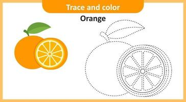 traço e cor laranja vetor