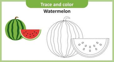 traço e cor de melancia vetor