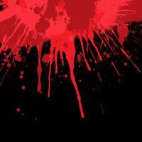 Fundo de respingos de sangue vetor