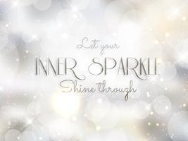 Fundo de prata inspiradora citação