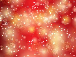 Fundo de Natal de floco de neve e estrelas vetor