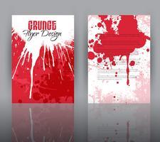 Design de grunge para modelo de folheto