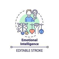 ícone do conceito de inteligência emocional vetor