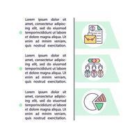 o que são ícones de linha de conceito de ações com texto vetor