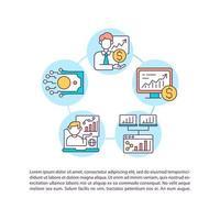 consulte ícones de linha de conceito de corretor on-line com texto vetor