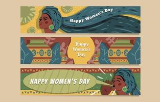 conceito de banner feliz dia da mulher vetor