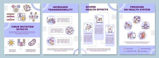 modelo de folheto de efeito de mutação de vírus vetor