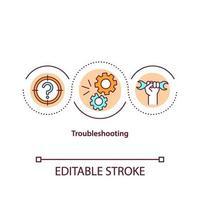 ícone do conceito de solução de problemas vetor