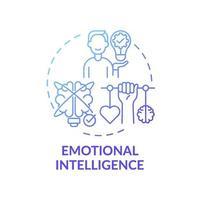 ícone de conceito de gradiente azul de inteligência emocional vetor