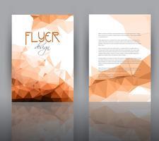 Design de baixo poli para modelo de folheto