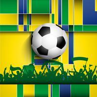 Fundo de multidão de futebol / futebol vetor