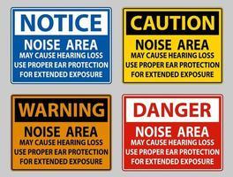 área de ruído pode causar perda de audição, use proteção auditiva adequada para exposição prolongada