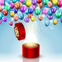 Fundo de celebração de balão