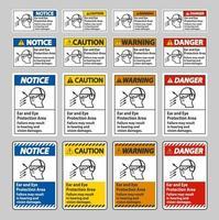 área de proteção dos ouvidos e olhos, a falha pode resultar em danos à audição e visão