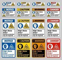 proteção auditiva em áreas de alto ruído pode ser necessária