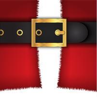 Fundo de casaco de Papai Noel vetor