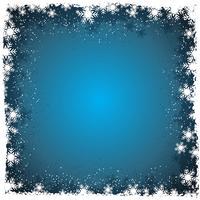 Flocos de neve natal vetor