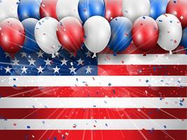 Fundo de celebração do dia da independência 4 de julho vetor
