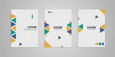 coleção de capa de memphis com formas coloridas, conjunto de enseada de memphis vetor