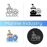 ícone de segurança marítima vetor
