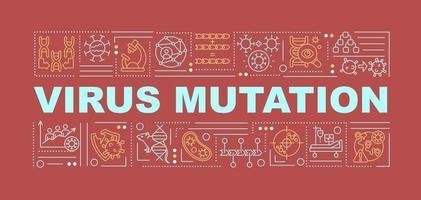 banner de conceitos de palavras de mutação de vírus vetor