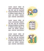 ícones de linha de conceito de plano de crescimento pessoal com texto vetor