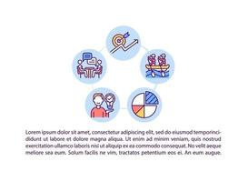 ícones de linha de conceito de melhoria de habilidades e talentos com texto vetor