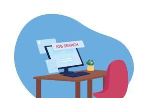 à procura de emprego ilustração em vetor conceito plana