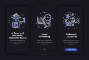 tela de página de aplicativo móvel de integração de rede remota com conceitos vetor