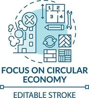focando no ícone do conceito de economia circular vetor