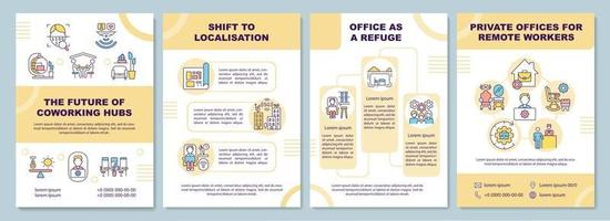 modelo de folheto futuro hubs de coworking vetor