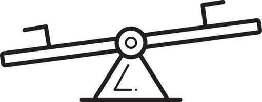 ícone de linha para gangorra vetor