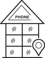 ícone de linha para telefone vetor