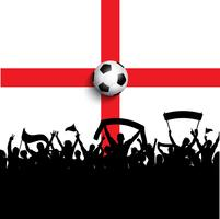 Adeptos de futebol na bandeira de Inglaterra vetor