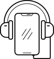 ícone de linha para aplicativo de música vetor
