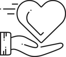ícone de linha para cuidados cardíacos vetor