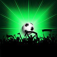 Fundo de torcedores de futebol vetor