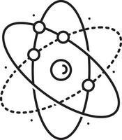 ícone de linha para átomo vetor