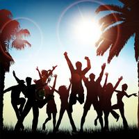 Fundo de festa de verão