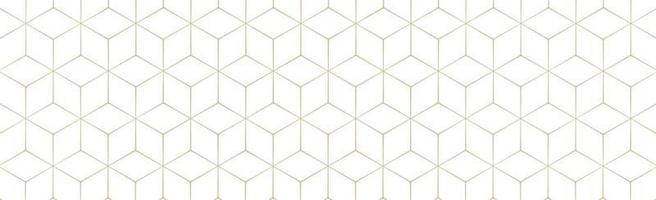 hexágonos dourados em um fundo branco - vetor